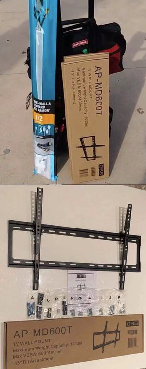 "New LCD LED Plasma Flat Tilt TV Wall Mount stand 32 37"" 40"" 42 46"" 47 50"" 52 55"" 60 65"" inch tv television bracket 100lbs capacity for Sale in Whittier, CA"