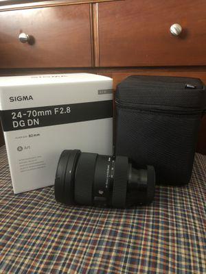 Sigma 24-70mm f2.8 DG DN Art, Sony E-Mount for Sale in San Diego, CA