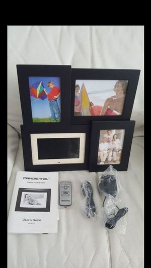 NEW Pandigital Black 7-Inch LCD DIGITAL Photo Frame 7004MU01 w/Picture Collage for Sale in Tampa, FL