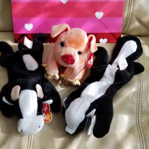 Beanie Babies Daisy Stinky PVC Pellets and Zodiac Pig for Sale in Coronado, CA