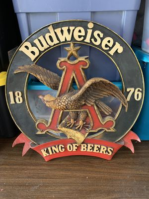 Budweiser wooden bar flair for Sale in Orlando, FL