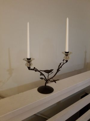 Vintage metal and glass bird candlebrela for Sale in Zion Crossroads, VA