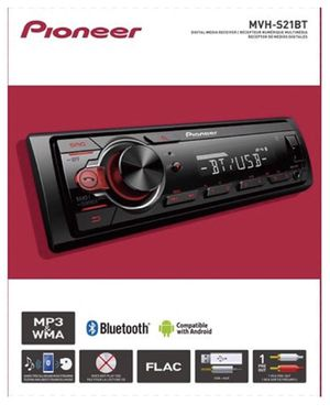Pioneer MVHS21BT Stereo Single DIN Bluetooth In-Dash USB MP3 Auxiliary AM/FM Android Smartphone Compatible Digital Media Car Stereo Receiver for Sale in Lawndale, CA