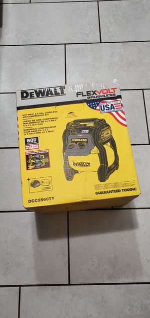 DEWALT 60 VT MAX BRUSHLESS XR FLEXVOLT AIR COMPRESOR W BATTERIE AND FAST CHARGER NEW NUEVO SET for Sale in Long Beach, CA