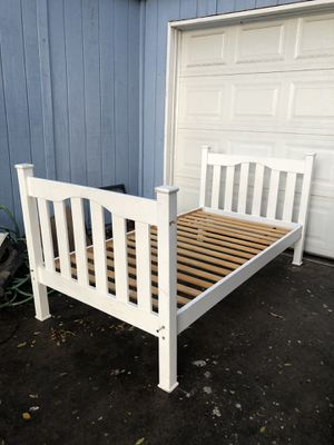 Tonight Only! White Twin Size Bed Frame for Sale in Fresno, CA