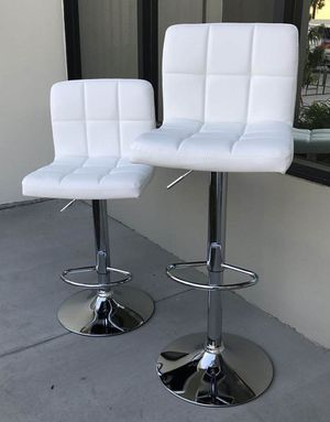 "NEW $40 each 24"" to 33"" seat height swivel barstool bar chair black grey or white color for Sale in Whittier, CA"