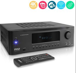 Pyle 5.2Ch 1000W Hi-Fi Bluetooth Home Theater Receiver - 5.2-Ch Surround Sound Stereo Amplifier System with 4K Ultra HD Support, MP3/USB/ Radio for Sale in Fort Worth, TX