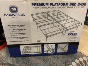 Platform Queen bed frame for Sale in Baltimore, MD
