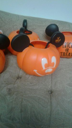 Halloween Mickey Mouse trick or treat treat bucket pail led Disney light up. for Sale in Covina, CA