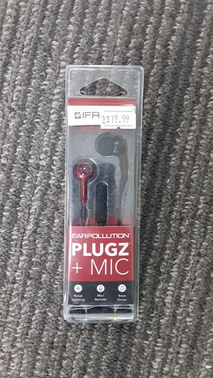 Earpollution plugs + mic for Sale in San Angelo, TX