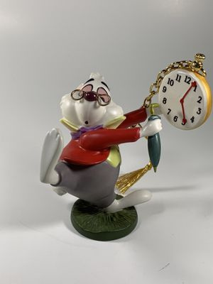 "Walt Disney Classics Collection Alice in Wonderland white rabbit ornament ""No time to say hello-goodbye"". Along with Certificate of Authenticity. Hav for Sale in South Attleboro, MA"