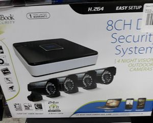 4 Camera 8 CH DVR Security System for Sale in Houston, TX