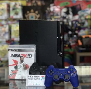 PlayStation 3 PS3 with 2 controllers and NBA 2k18 for Sale in Spring, TX