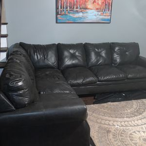 Faux Leather Sectional for Sale in Ellenwood, GA