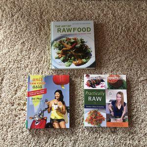 Cookbooks (3) For Raw Food for Sale in Marietta, GA