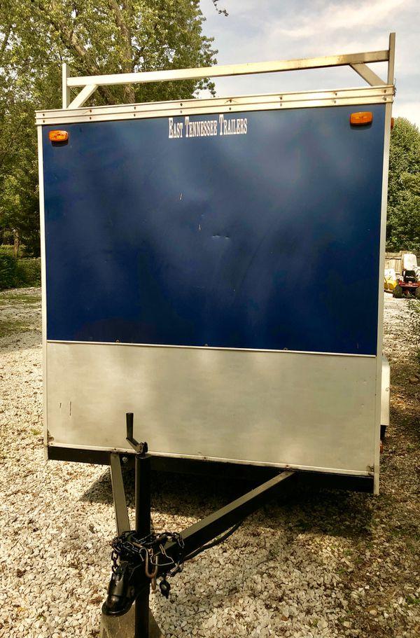 6x12 Enclosed Cargo Trailer w/Ladder Racks