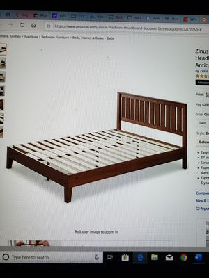 """Brand New ( in the box) Zinus 12"""" Deluxe King Solid Wood Platform Bed with Headboard in Antique Espresso for Sale in Batavia, OH"""