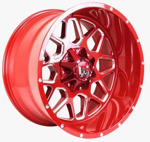 Western Wheels 22x12 Red 5x4.5 5x114.3 5x5 5x127 -44 offset for Sale in Miami, FL