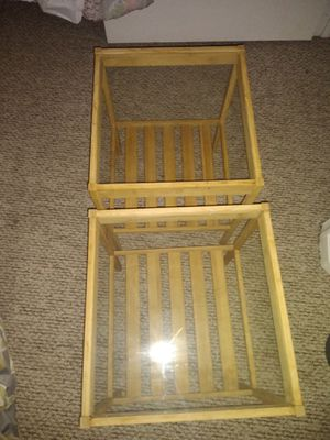Small wood Ikea side tables for Sale in Pompano Beach, FL
