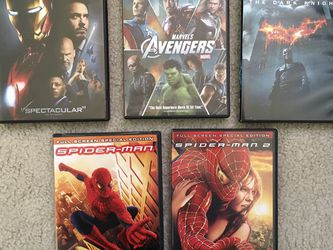 DVDs Marvel Iron Man, Avengers, Dark Knight, Spider Nan for Sale in Issaquah,  WA