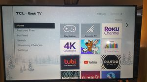 65-inch CRACKED TCL 4K series Roku Smart TV for Sale in Clinton Township, MI