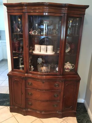 Antique China Cabinet and matching Buffett Cabinet for Sale in Santa Susana, CA