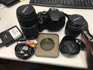 Canon Rebel T3i 2012 set for Sale in Newark, NJ