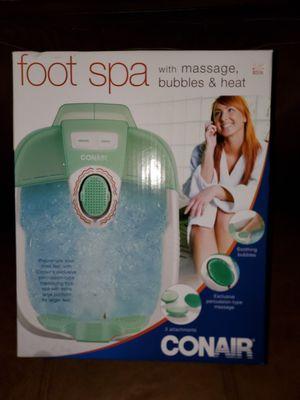 Conair Foot Spa/Pedicure Spa with Massage Bubbles ~ Includes 3 Attachments for Sale in Phoenix, AZ