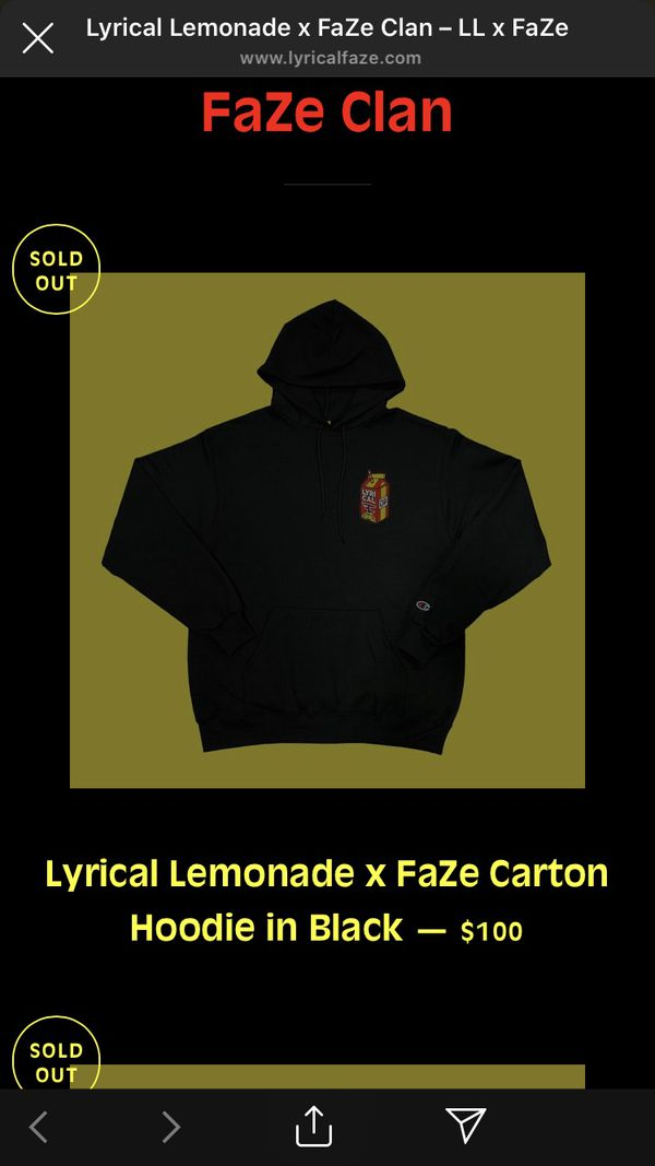 Lyrical lemonade X Faze clan hoodies