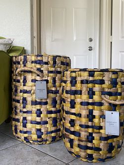 West Elm Decorative Laundry Storage Woven Baskets for Sale in Hollywood,  FL