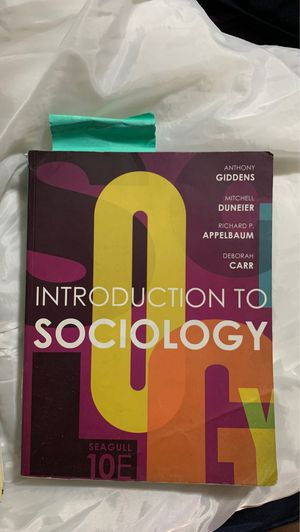 Introduction to sociology textbook for Sale in Burtonsville, MD