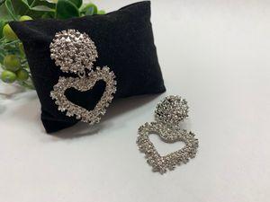 EmbossedMetal Heart Stud Earrings For Women, Silver Color for Sale in Tustin, CA