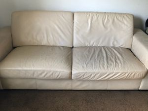 3 piece leather couch set. Move out sale. for Sale in Orlando, FL
