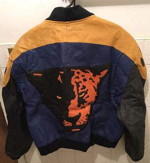 Leather tiger motorcycle jacket, large for Sale for sale  Brooklyn, NY
