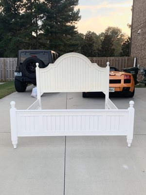 King Size Bed Frame with 9 Drawer Dresser and Mirror for Sale in Simpsonville, SC