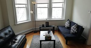 1 Ikea futon /sofa bed leather for Sale in Brookline, MA