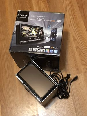XAV-712HD Mirror-Link Usb Aux Bluetooth GPS Sony Car Stereo Touchscreen :DVD receiver with AM/FM tuner built-in ampl for Sale in Dallas, TX