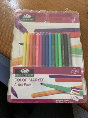 RD561 Royal Langnickel Essentials 16 Pack Color Marker Artist Pack for Sale in Germantown, MD