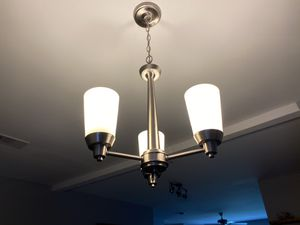 Chandelier, stainless steel, 3 lights (GU10 bulbs) for Sale in Richardson, TX