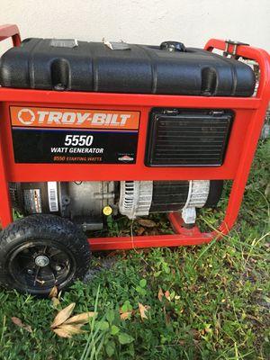 Troy bilt 5500 running watt generator 220/110 out put for Sale in Clearwater, FL