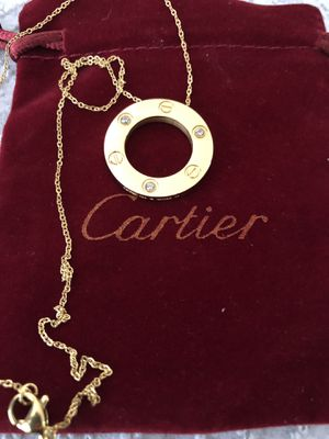 Cartier necklace gold with stones for Sale in Glendale, CA