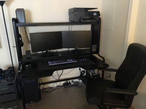 Gaming Computer Desk with Chair & Mat for Sale in Castleton, IN