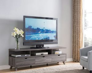 Mirage TV Stand up to 85in TVs, Distressed Grey for Sale in Santa Ana, CA