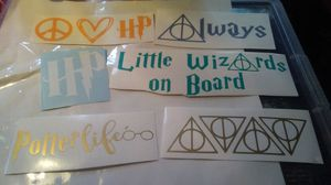 Harry Potter car decal sticker lot for Sale in York, PA