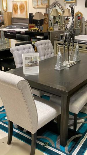 $39 Down Payment Best DEAL 🍾 Palmer Gray Dining Set 55 for Sale in Jessup, MD