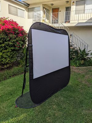 Good for backyard and camping! 84 inch (16:9) Portable popup projector screen! for Sale in Torrance, CA