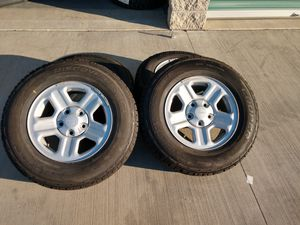 Jeep Wheels OEM 225/75/16 Cooper 5x5 price it's firm thanks only 4 wheels and tires for Sale in Montclair, CA
