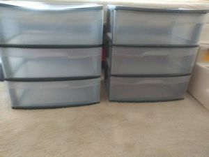 Plastic Storage Drawers TRADE or $15 each for Sale in Federal Way, WA