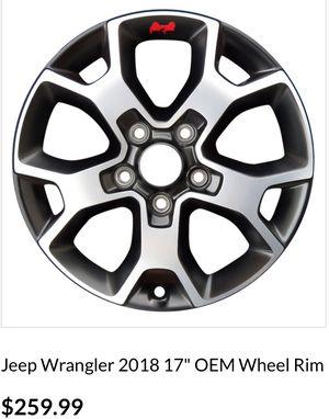 "Jeep Wrangler Rubicon 2019 17"" black Sahara Oem factory stock rims for Sale in Redmond, WA"