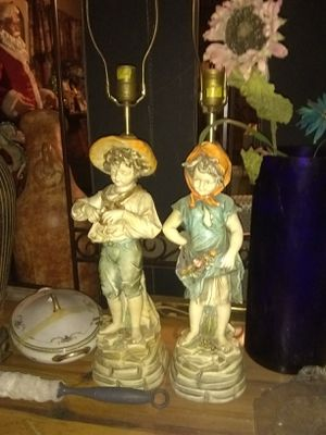 Beautiful boy n girl lamps for Sale in Pomona, CA